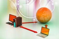 Беспроволочная система сети Стоковое Изображение