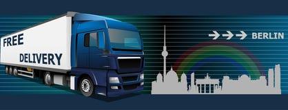 Бесплатная доставка к Берлину Стоковое Изображение RF