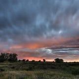 Бесплотный заход солнца Стоковое Фото