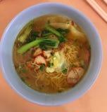Бессмысленные лапши супа mee Стоковые Фото