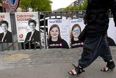 Бесчинствованный плакат DENMARK_eu Стоковые Изображения