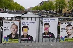 Бесчинствованный плакат DENMARK_eu Стоковая Фотография RF