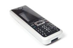бесшнуровая изолированная белизна телефона Стоковые Фотографии RF
