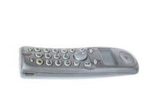 Бесшнуровой телефон назеиной линии dect серого цвета изолированный на белизне Стоковые Изображения