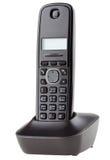 Бесшнуровой черный телефон с вашгердом Стоковые Изображения