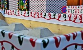 Бетонная плита на рождественской ярмарке вены Стоковые Изображения RF