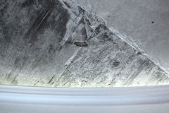 Бетонная стена и карниз Стоковое Фото