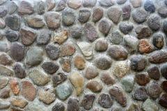 Бетонная стена с камешками Стоковые Изображения RF