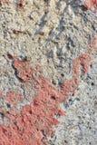 Бетонная стена с красным цветом Стоковая Фотография RF