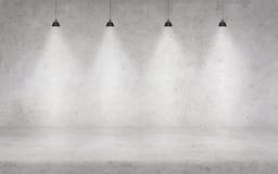 Бетонная стена с светами Стоковое Изображение RF