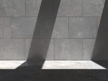 Бетонная стена 05a Lit Стоковая Фотография