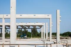 Бетонное здание конструкции Стоковое Фото