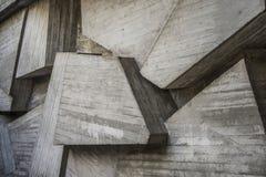 Бетонные конструкции, современная предпосылка квадрата архитектуры Стоковые Фото