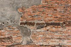 Бетон и кирпичная стена старого остаются Стоковая Фотография RF