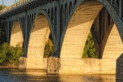 бетон моста Стоковое Изображение RF