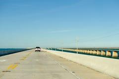 бетон мощёной дорожки моста Стоковое Изображение RF
