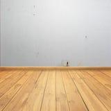 Бетон на стене и стене древесины для предпосылки Стоковое Изображение