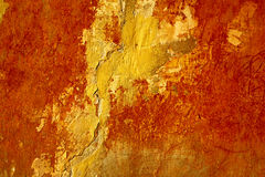 бетон трескает старую стену Стоковое Фото