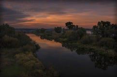 Беларусь: красивый спад и река Neman Стоковая Фотография