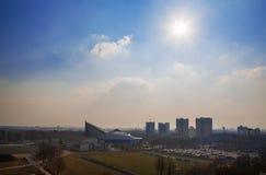 Беларусь, Минск, взгляд сверху Стоковые Фотографии RF