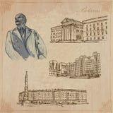 Беларусь Нарисованный рукой пакет вектора никакой 1 Стоковое Фото