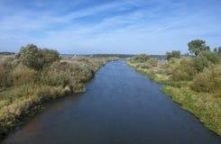 Беларусь: река Neman около поселения Stolbtsy Стоковое Изображение