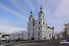 Беларусь minsk Собор святого духа стоковые изображения rf