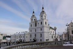 Беларусь minsk Собор святого духа стоковая фотография rf