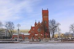 Беларусь minsk Церковь Saints Simon и Helena стоковое фото rf