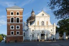 Беларусь, Nesvizh, церковь Корпус Кристи Стоковое фото RF