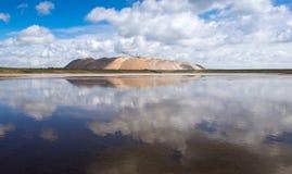 Беларусь, Soligorsk промышленный ландшафт Извлечение и минирование Стоковое фото RF