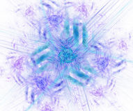 Белая абстрактная предпосылка с голубой текстурой флористического орнамента Pur Стоковая Фотография