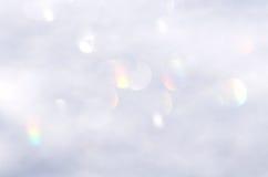 Белая абстрактная предпосылка bokeh Стоковое Фото