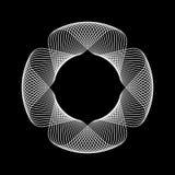 Белая абстрактная форма фрактали Стоковое Изображение RF