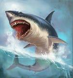 Белая акула иллюстрация штока