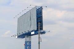 Белая афиша на шоссе Стоковое Изображение RF