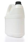 Белая банка и черный полиэтилен боковины из цветного каучука на белом backgro Стоковые Фотографии RF