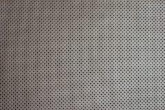 Белая бежевая пефорированная кожаная предпосылка текстуры Стоковые Изображения RF