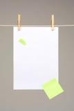 Белая бумага на моя линии Стоковое Фото