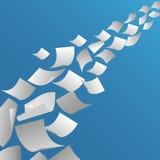 Белая бумага покрывает летание в воздухе иллюстрация вектора