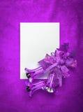 Белая бумага пробела рождественской открытки на мадженте Стоковая Фотография