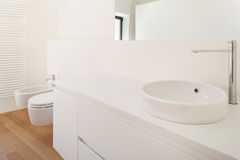 Белая ванная комната, раковина Стоковые Фото