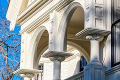 Белая викторианская деталь дома Стоковое Фото