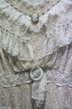Белая викторианская деталь платья Стоковые Изображения