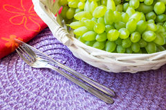 Белая виноградина - Pizzutello стоковое фото