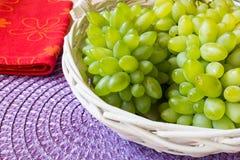 Белая виноградина - Pizzutello стоковые изображения rf