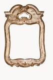 Белая винтажная рамка на изолированной предпосылке Стоковая Фотография RF