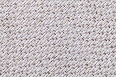 Белая винтажная ткань с сплетенным крупным планом текстуры Предпосылка макроса ткани Стоковая Фотография RF