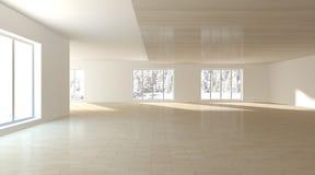 Белая внутренняя концепция для живущей комнаты Стоковая Фотография RF