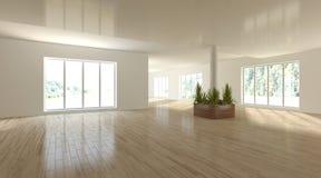 Белая внутренняя концепция для живущей комнаты Стоковые Фотографии RF